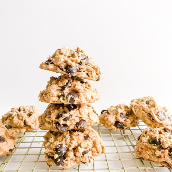 Chewy Vegan Almond Butter Chocolate Chip Cookies   Living Well With Nic