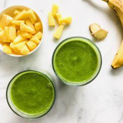 Morning Pineapple Ginger Green Smoothie