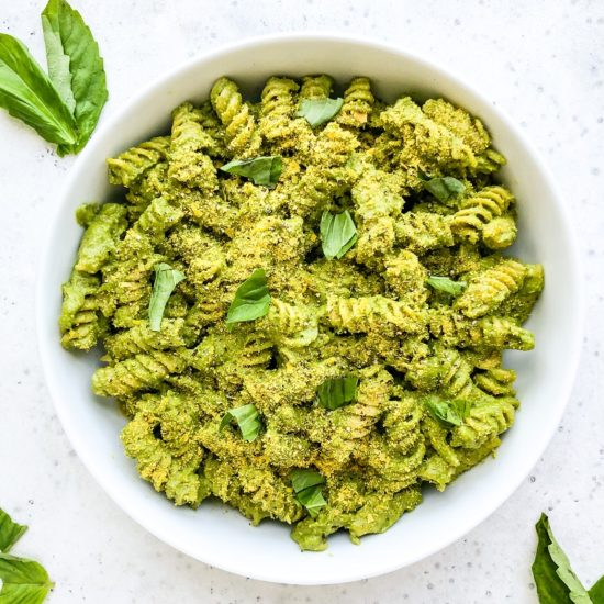 Creamy Vegan Pesto Pasta | Living Well With Nic