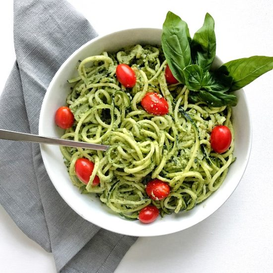 Pesto Zoodles   Living Well With Nic